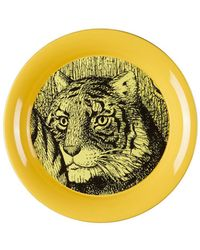Gucci - Tiger Round Small Metal Tray - Lyst
