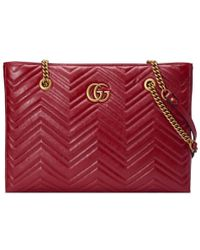 Gucci - GG Marmont Matelass�� Medium Tote - Lyst