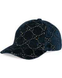 Gucci - Baseballkappe aus GG Samt - Lyst
