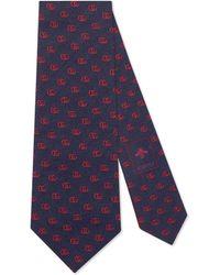 Gucci - Cravate en soie double G - Lyst