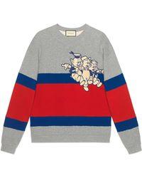 Gucci - Men's Sweatshirt With Three Little Pigs - Lyst