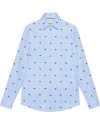 Gucci - Elephants Fil Coupé Duke Shirt - Lyst