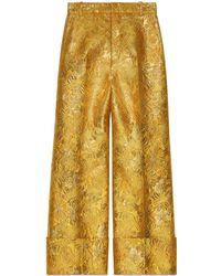 Gucci - Floral Brocade Pant - Lyst
