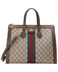 Gucci Ophidia GG Medium Top Handle Bag - Brown