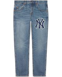 Gucci - Vaqueros ajustados con parche NY YankeesTM - Lyst