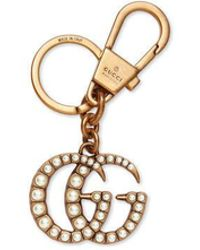 Gucci - Double G With Pearls Key Ring - Lyst