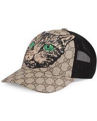 Gucci - Gg Supreme Mystic Cat Baseball Hat - Lyst