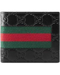 Gucci - Portefeuille avec porte-monnaie signature à bande Web - Lyst