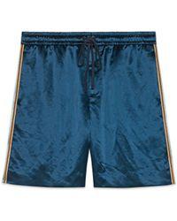 Gucci - Shorts aus bedrucktem Bi-Material - Lyst