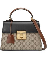 Gucci - Padlock Gg Supreme Top Handle Bag - Lyst