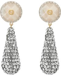 Gucci - Crystal Studded Drop Pendant Earrings - Lyst