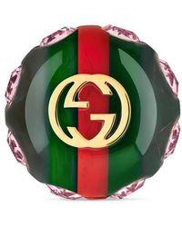 Gucci - Vintage Web Ring - Lyst