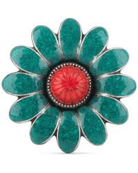 Gucci - Enamelled Flower Ring - Lyst
