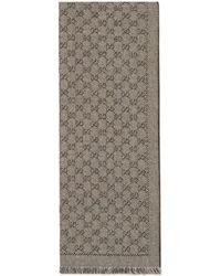 Gucci - Sciarpa in lana con motivo GG jacquard - Lyst