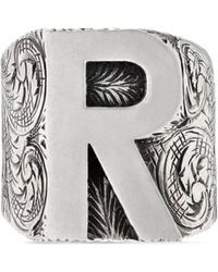 Gucci - R Letter Ring In Silver - Lyst