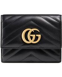 Gucci - Portafoglio GG Marmont matelassé - Lyst