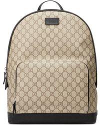 Gucci - GG Supreme canvas rucksack - Lyst