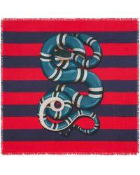 Gucci - Kingsnake Print Silk Scarf - Lyst