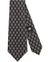 Gucci - Cravate en soie à motif chaînes GG - Lyst