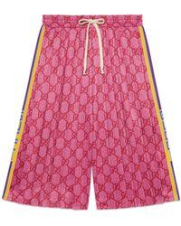 Gucci - Shorts aus technischem GG Jersey - Lyst