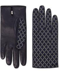Gucci - Gants en cuir à motif G carré - Lyst