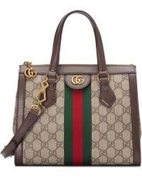 Gucci - Borsa shopping Ophidia in GG Supreme - Lyst