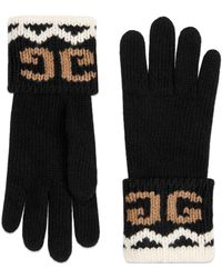 Gucci - Wool Gloves With Mirrored GG - Lyst