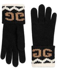 Gucci - Handschuhe aus Wolle mit gespiegeltem GG - Lyst