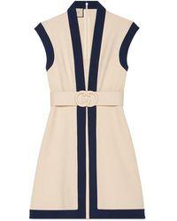 Gucci - Viscose Jersey Dress With Gg Belt - Lyst