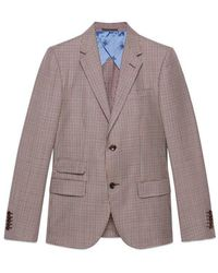 Gucci - New Signoria Houndstooth Jacket - Lyst