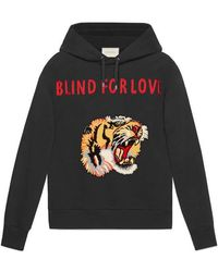Gucci - Cotton Sweatshirt With Tiger - Lyst