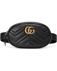 Gucci - Gg Marmont Matelassé Leather Belt Bag - Lyst