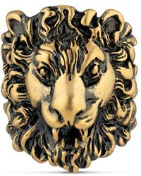 Gucci - Ring With Lion Head - Lyst