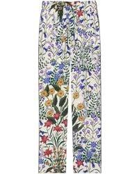 Gucci - New Flora Print Silk Pyjama Pant - Lyst