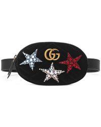 Gucci - Gg Marmont Velvet Belt Bag - Lyst
