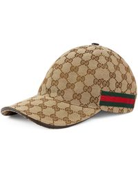 Gucci - Original Gg Canvas Baseball Hat With Web - Lyst