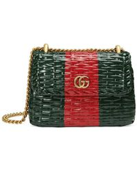Gucci - Web Wicker Mini Shoulder Bag - Lyst