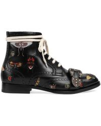 Gucci - Queercore Embroidered Brogue Boot - Lyst