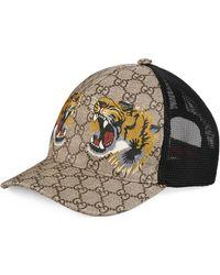 Gucci - Cappellino da baseball GG Supreme con stampa tigre - Lyst