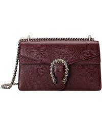 71131df019ff Gucci Dionysus Metallic Leather Shoulder Bag in Metallic - Lyst