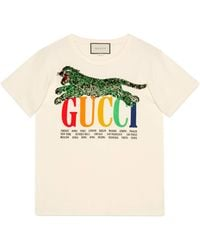Gucci - Cities T-shirt With Tiger - Lyst