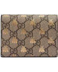 Gucci - Porte-cartes Suprême GG à abeilles - Lyst