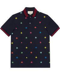 Gucci - Polo con api e stelle - Lyst