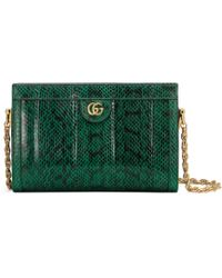 Gucci - - Ophidia Small Snakeskin Shoulder Bag - Lyst