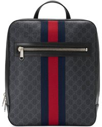 10f3f1b32b7 Gucci Gg Supreme Angry Cat Backpack in Black for Men - Lyst