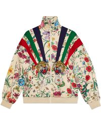Gucci - Technical Jersey Jacket With Patches - Lyst