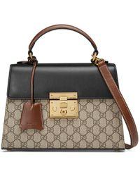 244c0cbe0cf7 Gucci - Padlock Small GG Top Handle Bag - Lyst