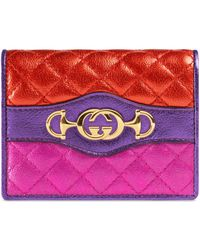 Gucci - Laminated Leather Card Case - Lyst