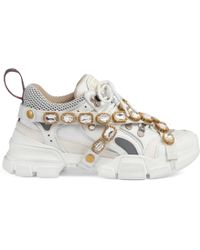 Gucci - Flashtrek Trainer With Removable Crystals - Lyst