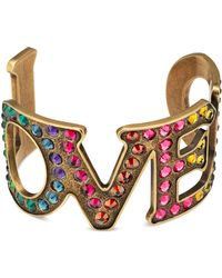 Gucci - Loved Cuff Bracelet With Crystals - Lyst
